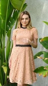 Sukienka Justmelove z okrągłym dekoltem z krótkim rękawem
