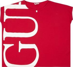 Czerwona bluzka dziecięca Guess z krótkim rękawem