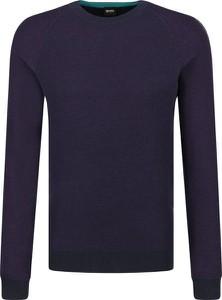 Granatowy sweter BOSS Casual z wełny