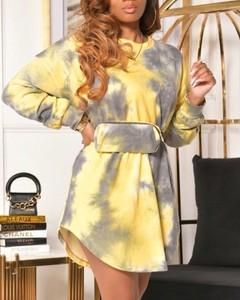Sukienka Kendallme z dresówki z długim rękawem mini