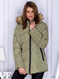 Zielona kurtka Sheandher.pl w stylu casual