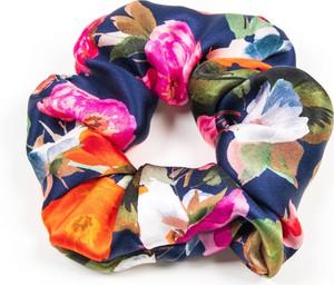 So Fluffy Jedwabna gumka maxi - kwiaty na granacie