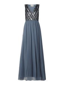 Niebieska sukienka Lace & Beads maxi