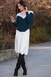 Granatowy sweter Ivet.pl w stylu casual