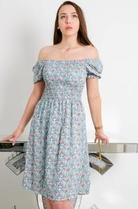 Zielona sukienka Olika hiszpanka z krótkim rękawem mini