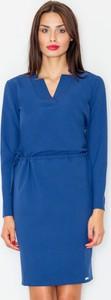 Niebieska sukienka Figl mini
