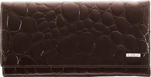 Brązowy portfel Nicole ze skóry