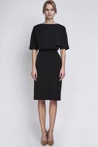 Czarna sukienka Lanti z okrągłym dekoltem