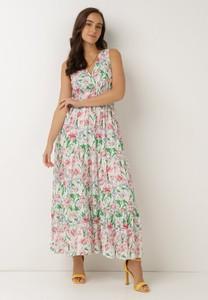 Sukienka born2be w stylu boho z dekoltem w kształcie litery v bez rękawów