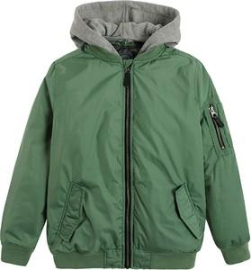 Zielona kurtka dziecięca Cool Club z dzianiny dla chłopców