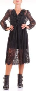 Czarna sukienka ANIYE BY z długim rękawem