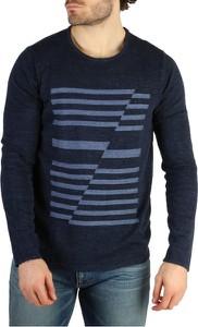 Sweter Calvin Klein z okrągłym dekoltem z bawełny