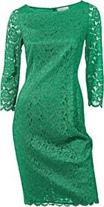 Sukienka Heine z okrągłym dekoltem z długim rękawem