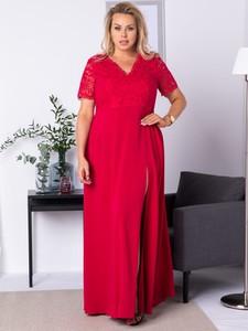 Sukienka KARKO z krótkim rękawem maxi