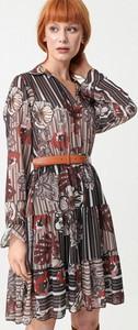 Sukienka born2be z kołnierzykiem w stylu casual