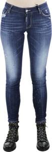 Niebieskie jeansy Dsquared2 w stylu casual
