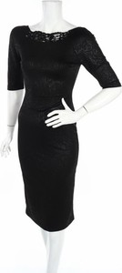 Czarna sukienka Yours z długim rękawem midi