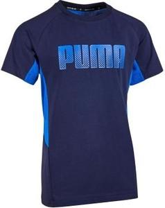 Niebieska koszulka dziecięca Puma
