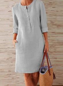 Sukienka Arilook z długim rękawem mini prosta