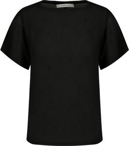 Czarna bluzka Marella z okrągłym dekoltem z krótkim rękawem w stylu casual