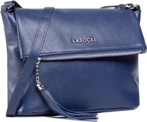 Niebieska torebka Lasocki średnia