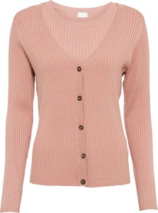 Różowy sweter bonprix w stylu casual
