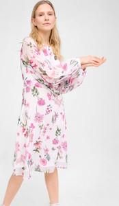 Sukienka ORSAY midi z dekoltem w kształcie litery v z szyfonu
