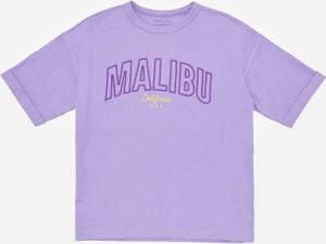 Fioletowa koszulka dziecięca Reserved z bawełny