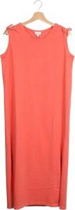 Pomarańczowa sukienka Gebe bez rękawów mini prosta