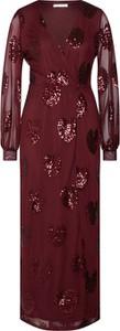 Czerwona sukienka Vila maxi