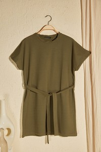 Zielona sukienka Trendyol w stylu casual z krótkim rękawem