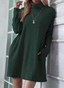 Sukienka Cikelly w stylu casual z długim rękawem z golfem