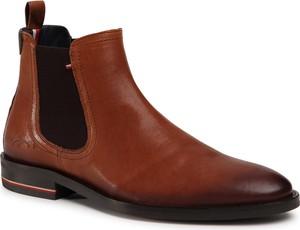 Brązowe buty zimowe Tommy Hilfiger