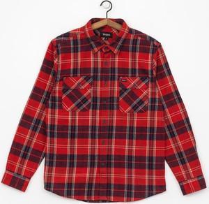 Czerwona koszula Brixton z długim rękawem z bawełny w stylu casual