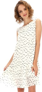 Sukienka L'AF z dekoltem w kształcie litery v z tkaniny mini