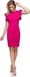 Różowa sukienka sukienki.pl z dzianiny