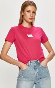 Bluzka Calvin Klein z bawełny z krótkim rękawem