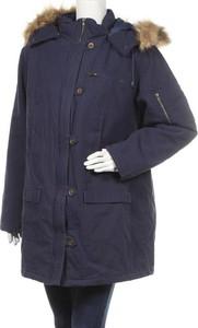 Granatowa kurtka BOYSEN'S w stylu casual długa