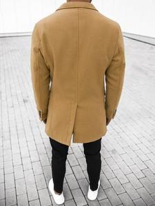 Brązowy płaszcz męski Ozonee