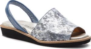 Sandały Loretta Vitale z nubuku w stylu casual