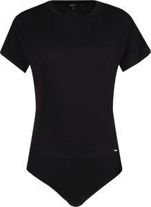 Czarna bluzka Pepe Jeans z okrągłym dekoltem z krótkim rękawem