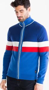 Niebieski sweter ANGELO LITRICO z bawełny