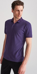 Fioletowa koszulka polo Reserved