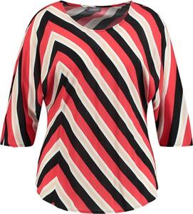 T-shirt Samoon z okrągłym dekoltem z długim rękawem