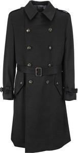Czarny płaszcz męski Lardini