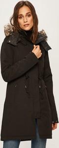 Brązowa kurtka The North Face w stylu casual długa