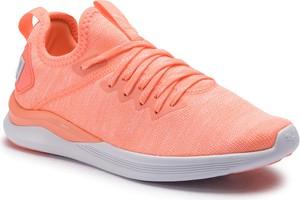Różowe buty sportowe Puma sznurowane