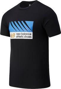 T-shirt New Balance z krótkim rękawem z nadrukiem w młodzieżowym stylu