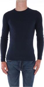 Niebieski sweter Jeordie`s w stylu casual z dżerseju