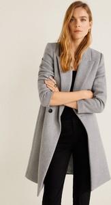 Płaszcz Mango w stylu casual z wełny